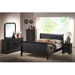 "AMERICAN IMPORTS ""LOUIS PHILIPPE-BLACK"" BEDROOM C5934A-6PC Image"