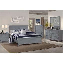 "NEW CLASSIC ""TAMARACK-GRAY"" 6PC KING BEDROOM GROUP 00-042-040-050-060-115-135 Image"